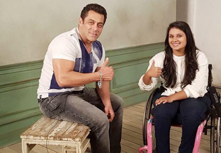 Virali Modi with Salman Khan
