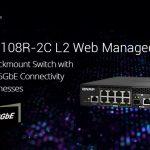 QNAPは、ハーフ幅ラックマウントQSW-M2108R-2C 2.5GbE、10GbEポート L2 ウェブマネージドスイッチシリーズをリリース、コスト効率と性能の高いネットワーク管理を提供