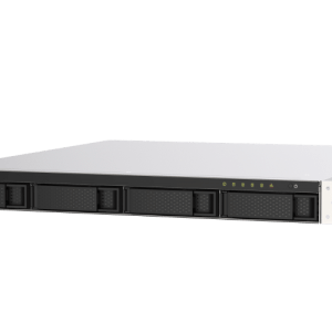 QNAP TS-453DU-4G 4-Bay, 1U Rack-mountable (rails included) NAS with 2.00 GHz Intel Celeron CPU and 4GB RAM