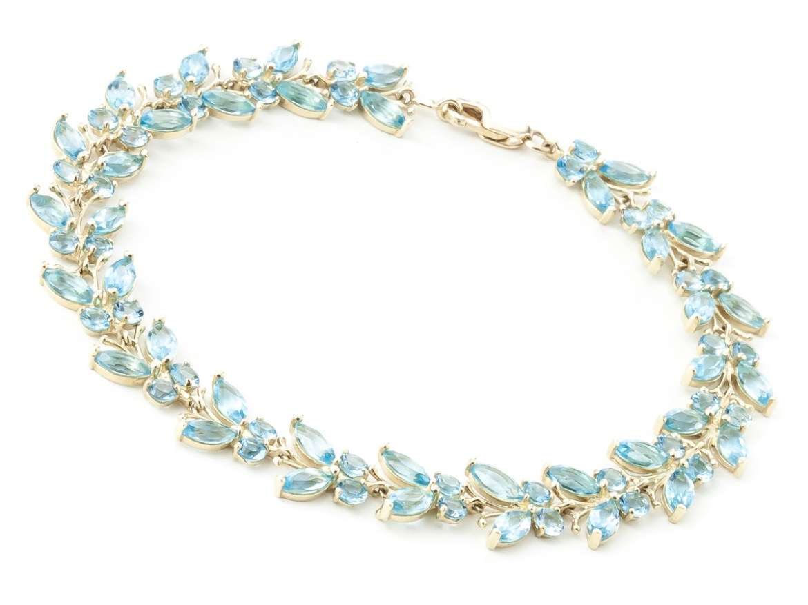 Blue Topaz Butterfly Bracelet 16.5ctw in 9ct Gold