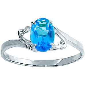 Sterling Silver 0.75ct Blue Topaz Ring