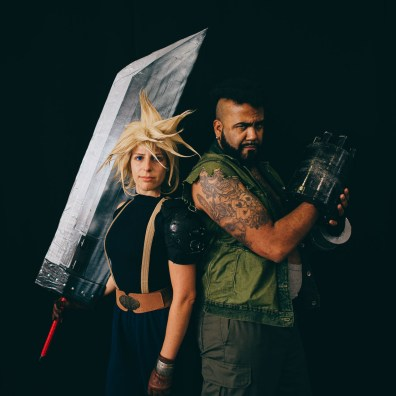 Cloud Strife and Barret Wallace