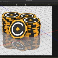 Photoshop 3D: branded casino chips