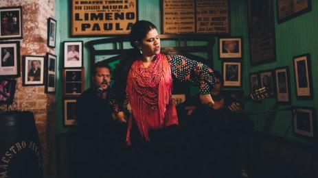 Iván de Manuela Carpio (al cante), Melisa Picón (al baile) & David de la Jeroma (a la guitarra).