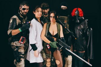 Venom Snake, Naomi Hunter, Quiet, Psycho Mantis and friends from Metal Gear Solid