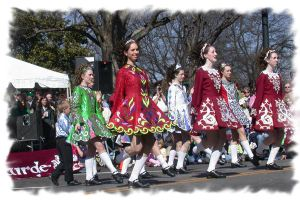 Dancers Perform At The Raleigh St. Patricks Day Parade and Festival