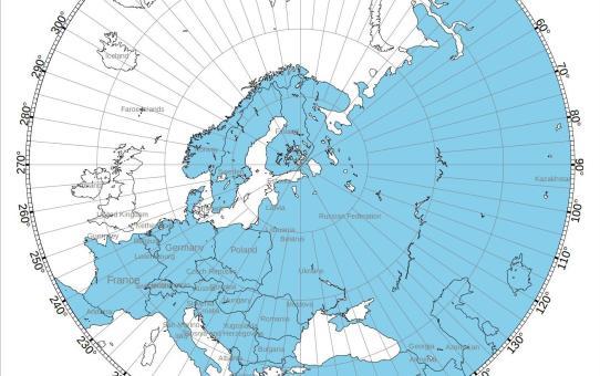 Azimuthal map??  Locator??  Se on Qth-keskeinen kartta.