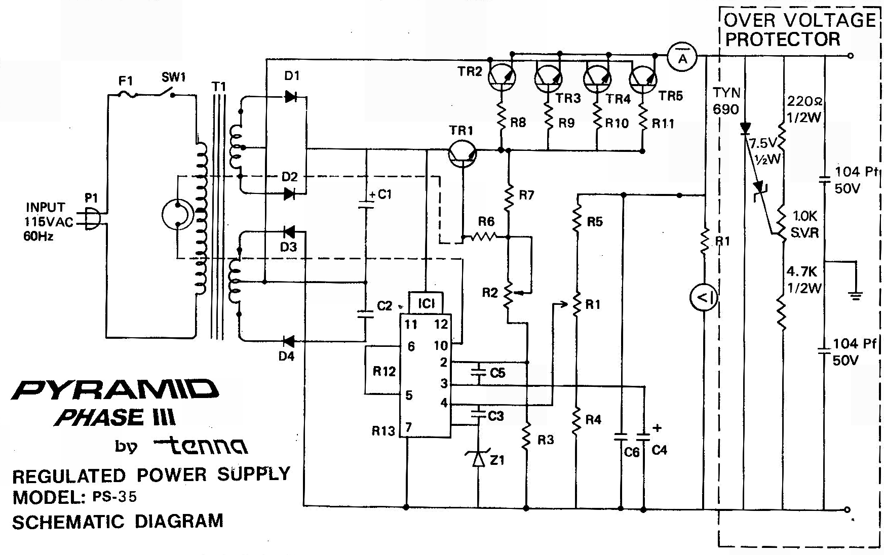 Ps 35g Pyramid Power Supply Diagram