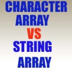 Difference between character array and string array