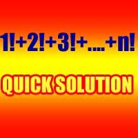 find sum of series 1!+2!+3!+4!+........+n!