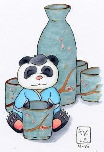 Panda and sake goodness