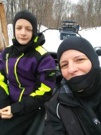 Mère et fils, hiver 2017-18.