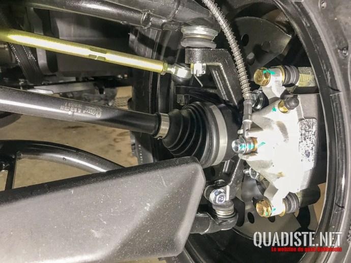 Nouveaux freins avant + suspension modifiée
