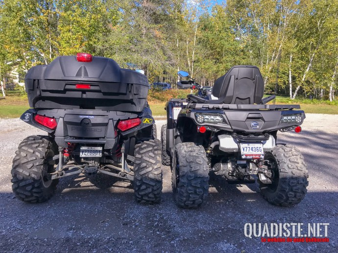 Comparatif arriere VS Polaris Sportsman 1000