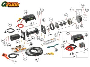 Q9500is Winch Replacement Parts | Quadratec