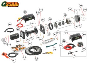 Q9500is Winch Replacement Parts | Quadratec