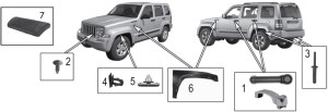 Jeep Liberty KK Exterior Body Parts ('08'11) | Quadratec
