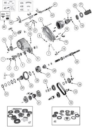 NP242 Replacement Parts ('84'07) | Grand Cherokeewj | Quadratec
