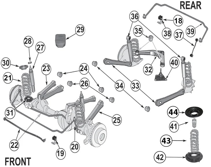 2004 Jeep Grand Cherokee Front End Parts Diagram ...