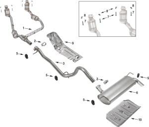 Jeep Wrangler JK Exhaust Parts 0711 | Quadratec