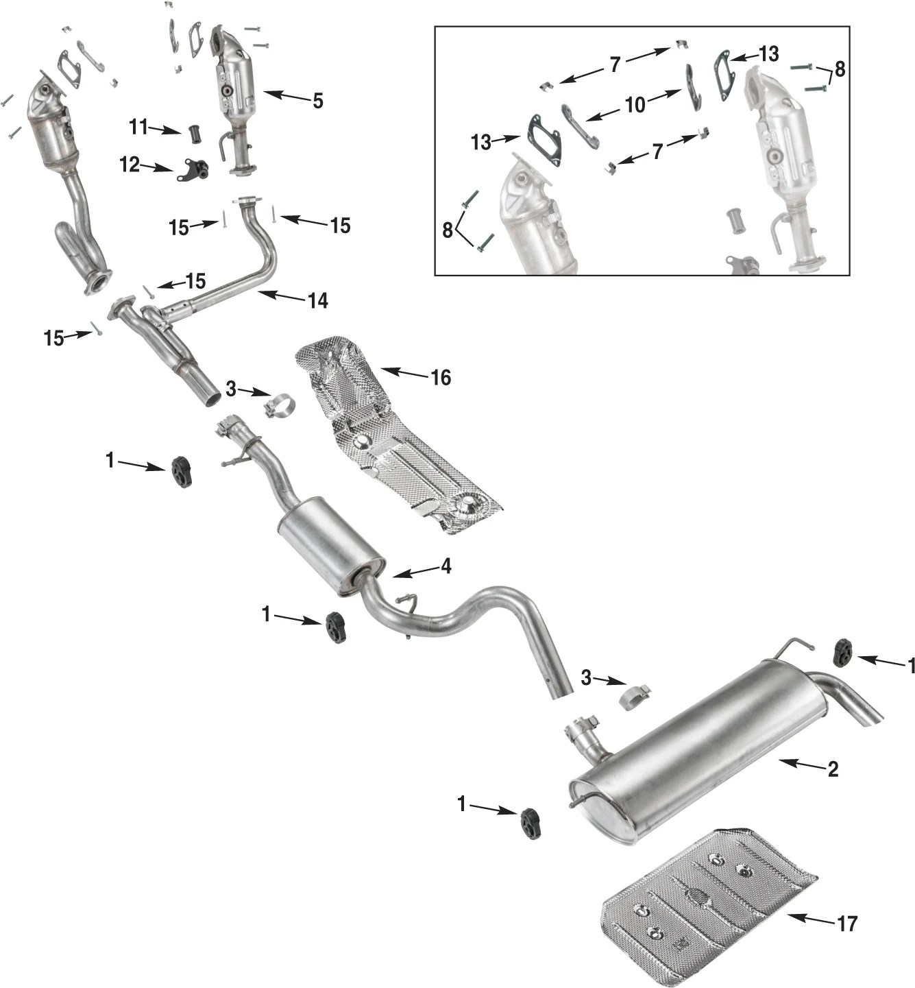 Jeep Wrangler Jk Exhaust Parts 12 18
