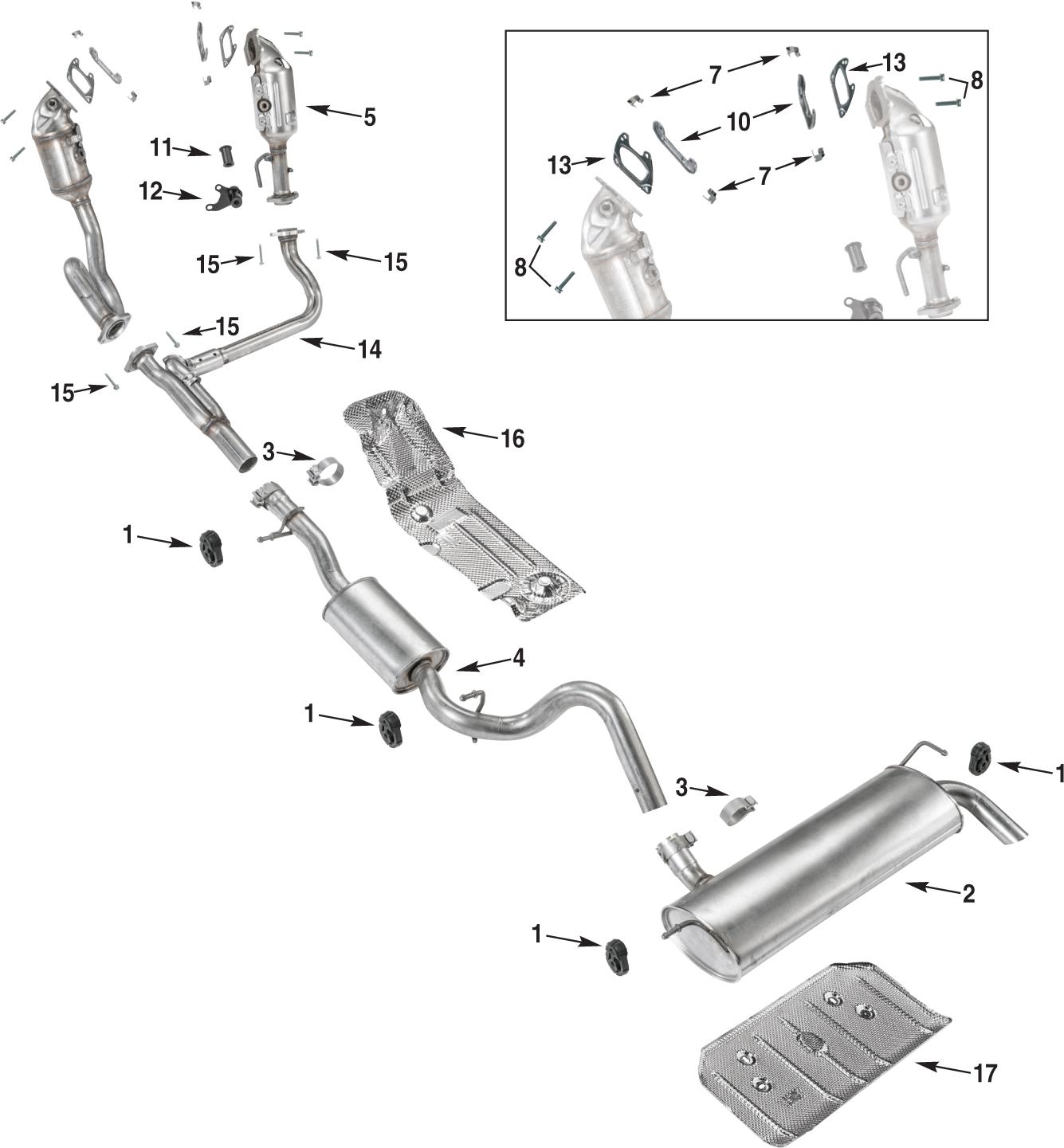 Jeep Wrangler Jl Exhaust Parts 18 19