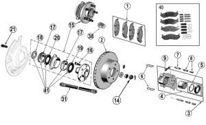 Jeep Wrangler YJ Front Brake Parts ('87'95) | Quadratec