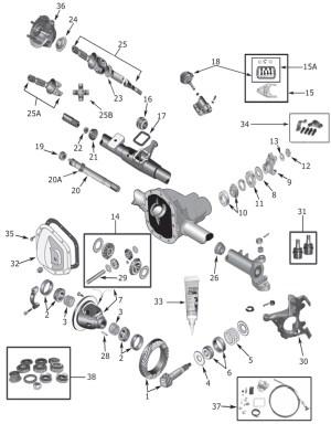 Jeep Wrangler YJ Dana 30 Front Axle Parts | Quadratec