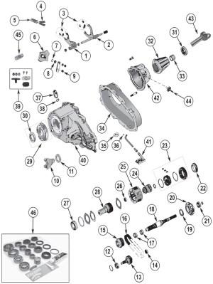 NP231 Replacement Parts ('88'06) | Quadratec