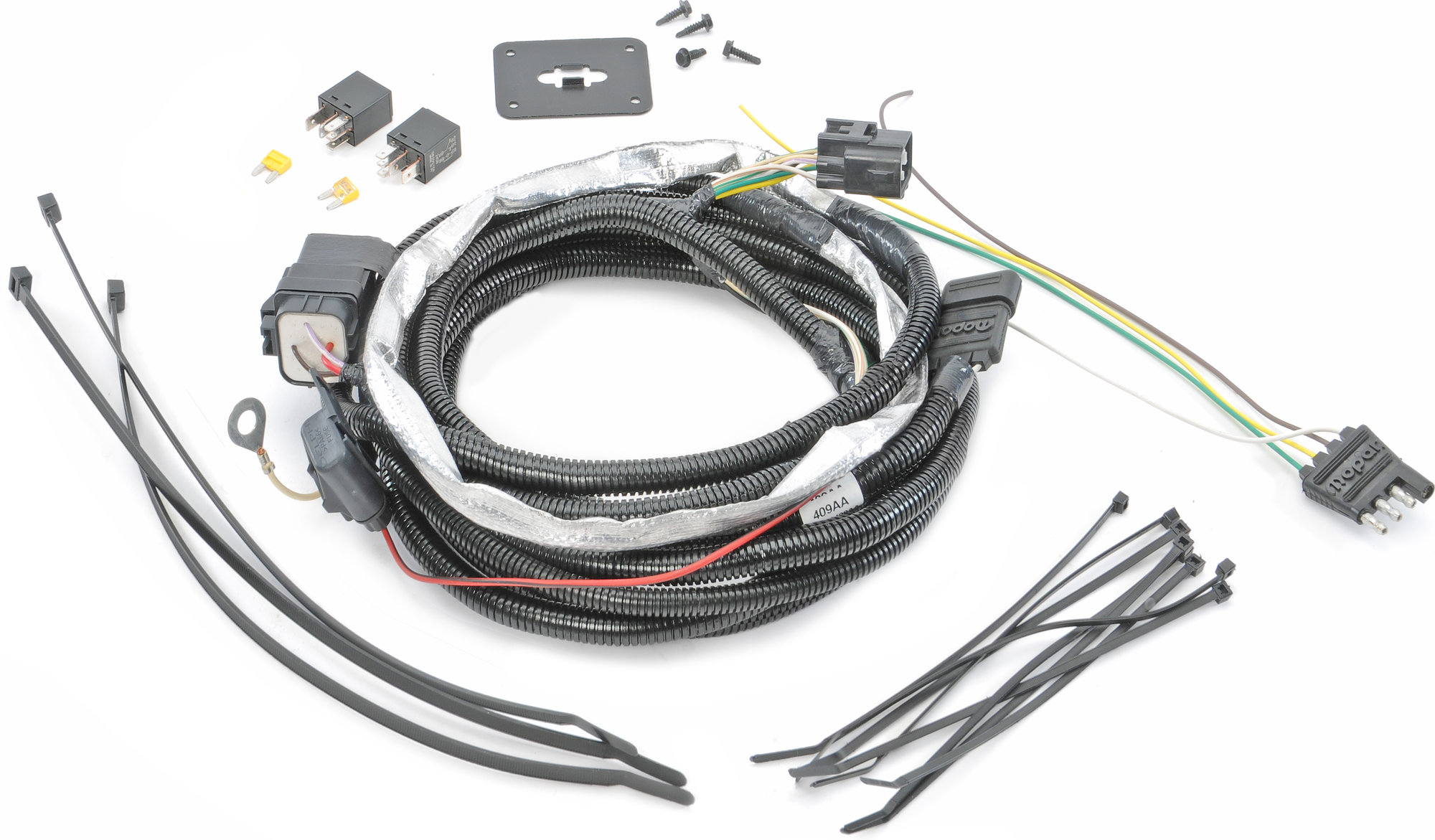 Mopar Ab 4 Way Flat Hitch Wiring Harness For 05 06