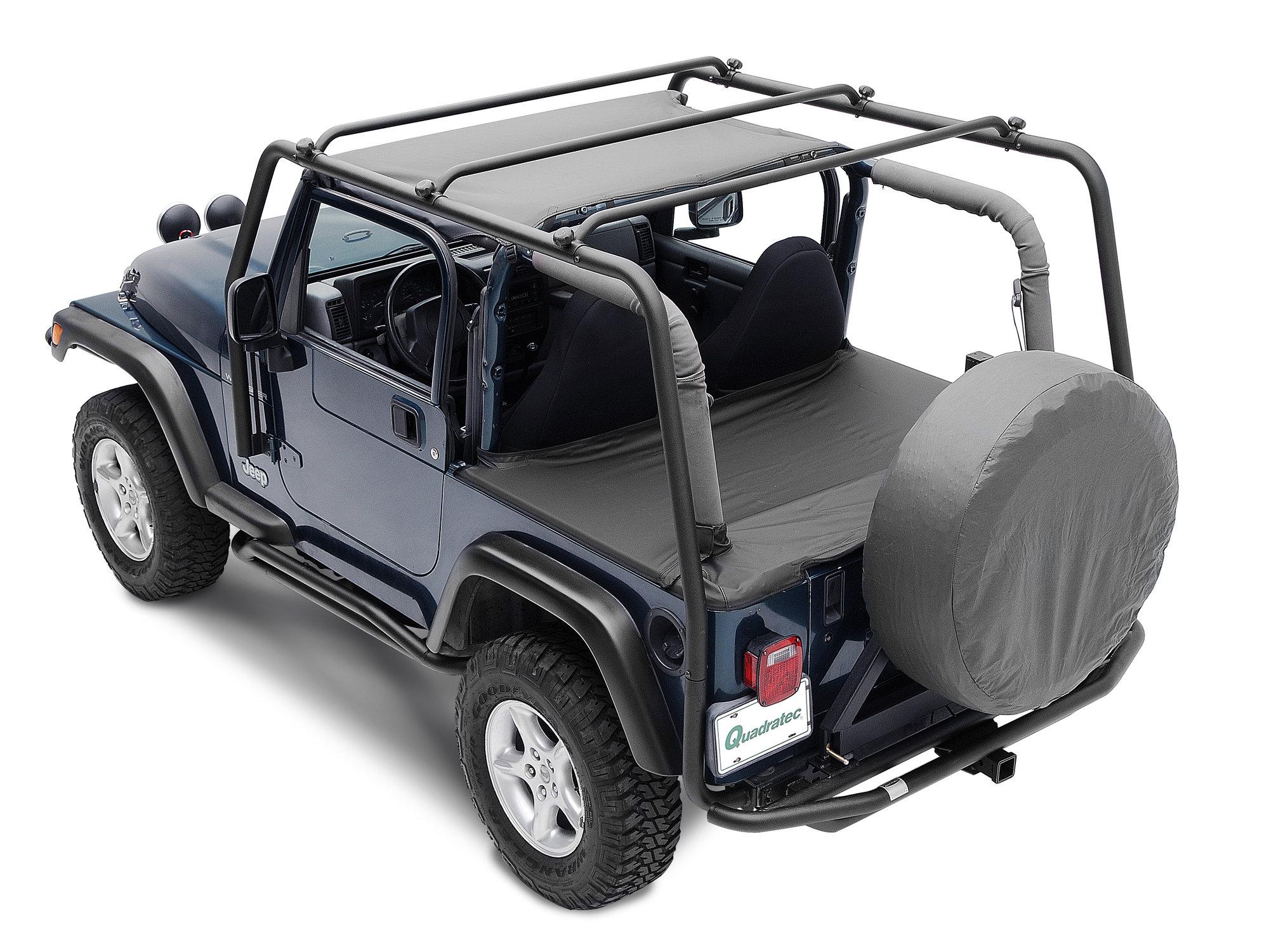 smittybilt 76713 smi src roof rack in textured black for 97 06 jeep wrangler tj
