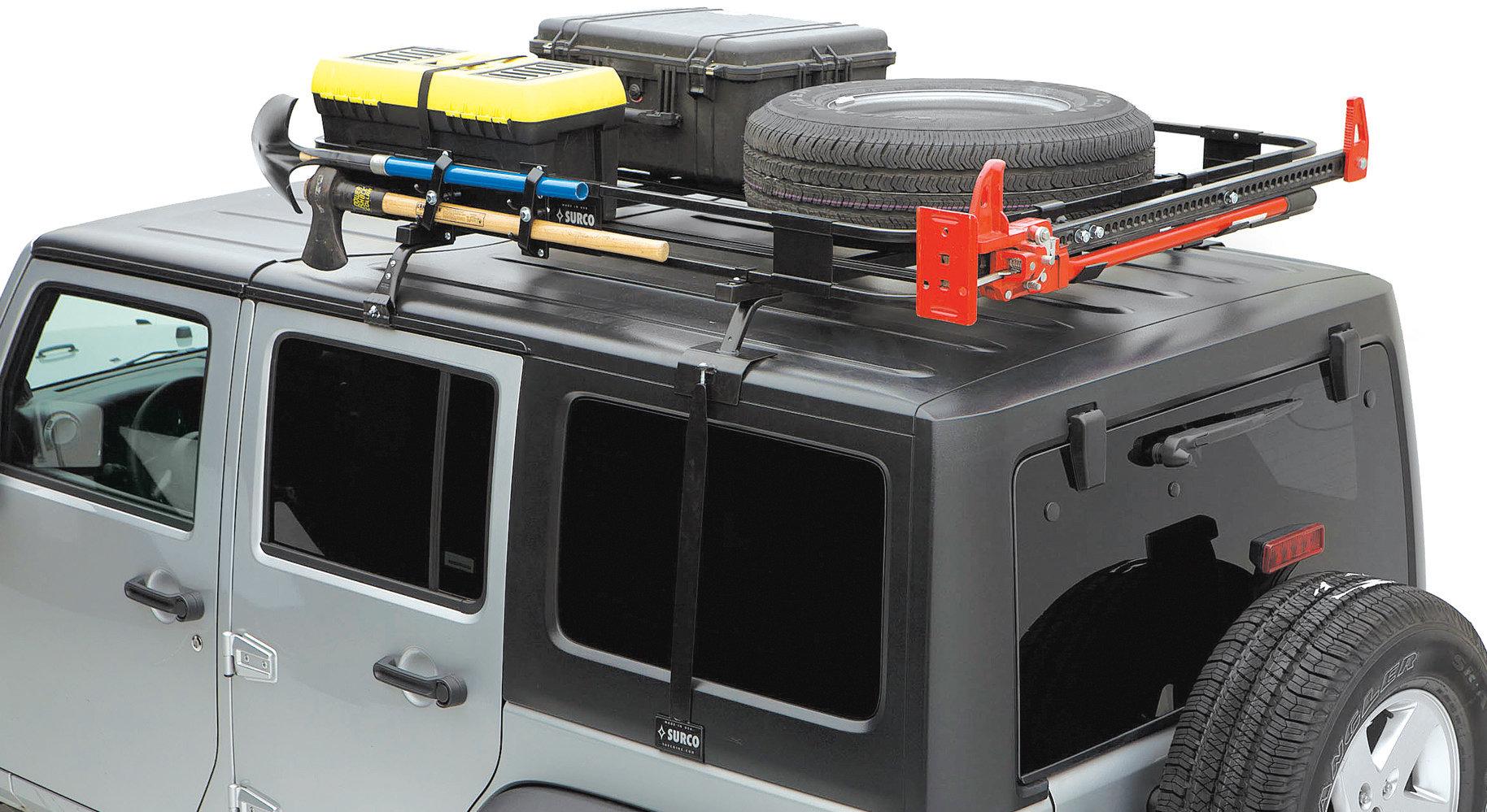 surco safari hardtop rack for 97 06 jeep wrangler tj unlimited