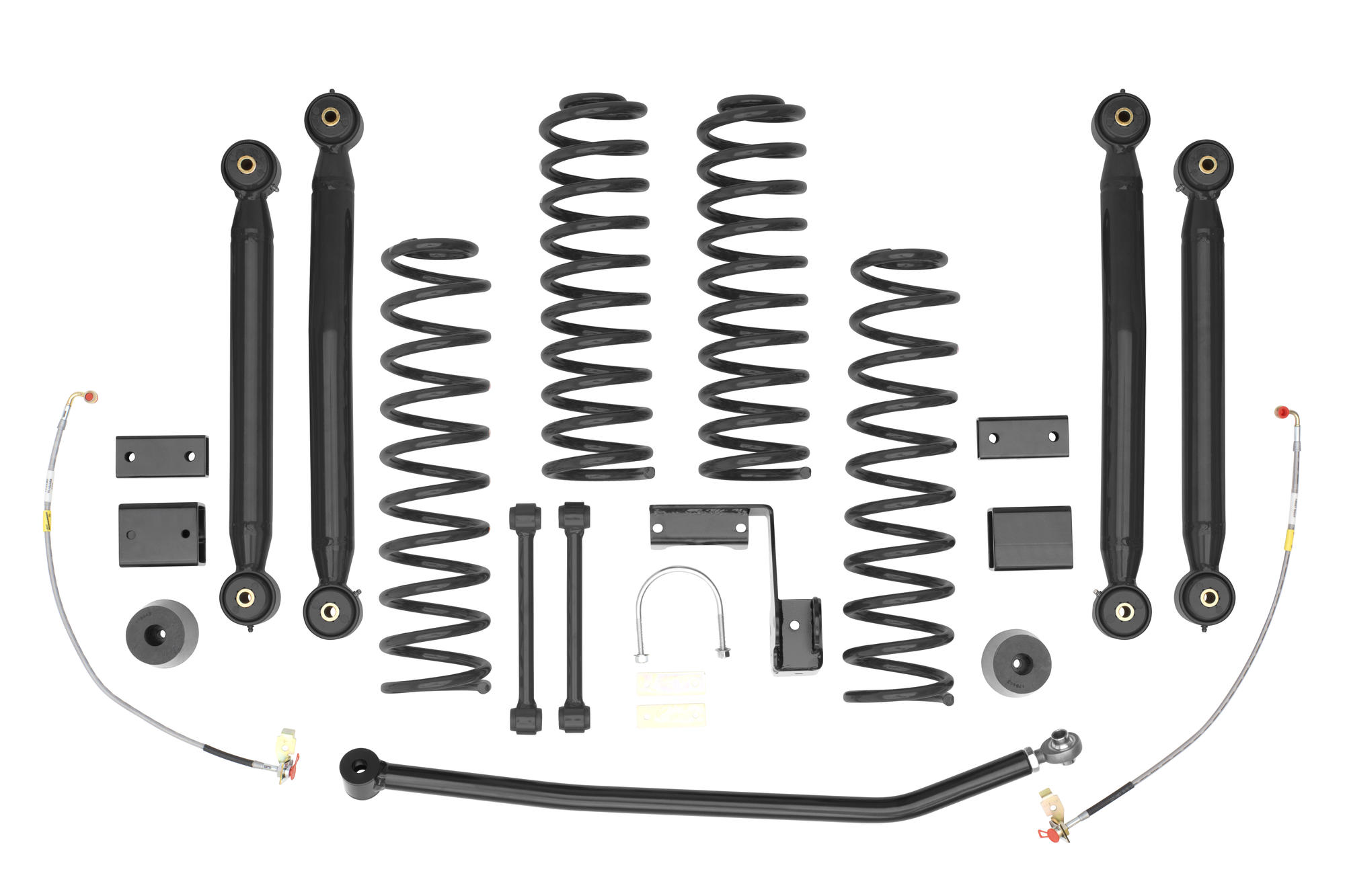 Rancho 4 Trail System In Black For 07 16 Jeep Wrangler