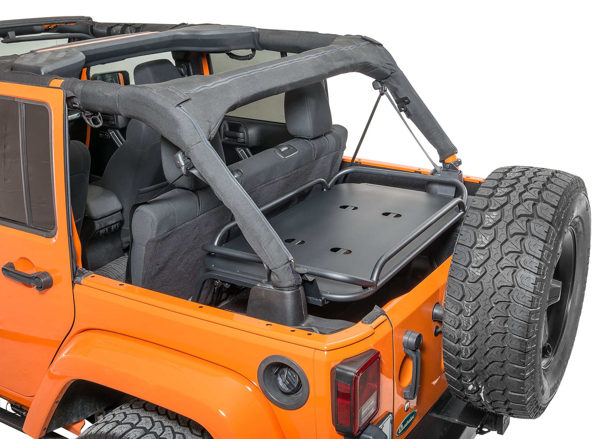 rampage products 86623 rear interior sport rack for 07 18 jeep wrangler unlimited jk 4 door