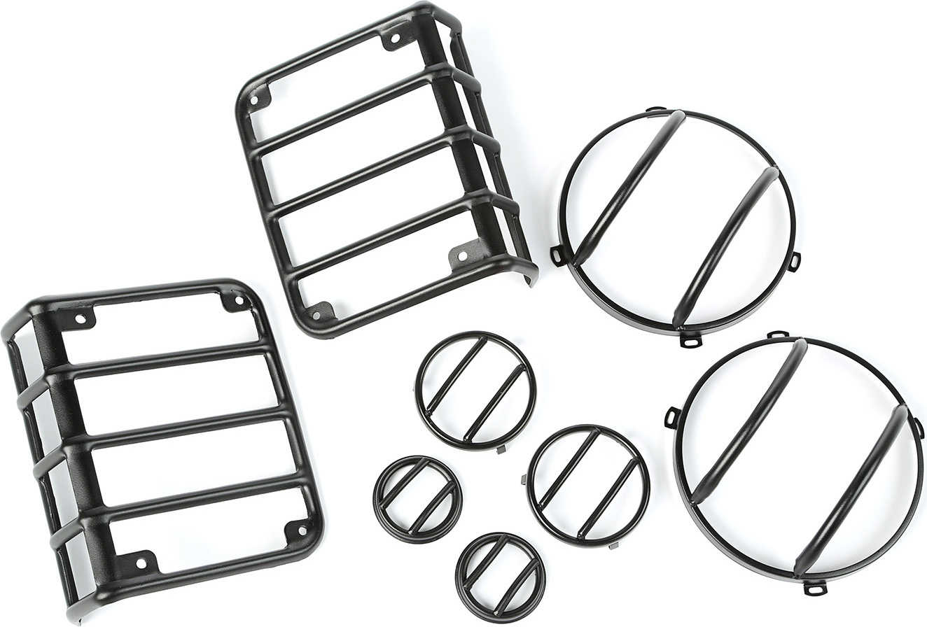 Rugged Ridge 8 Piece Euro Guard Light Kit For 07 16 Jeep