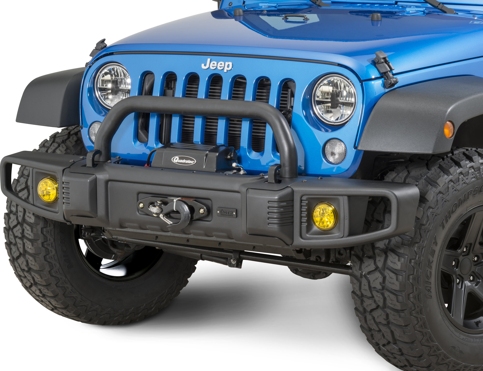 TACTIK Front Bumper With Over Rider Hoop For 07 17 Jeep