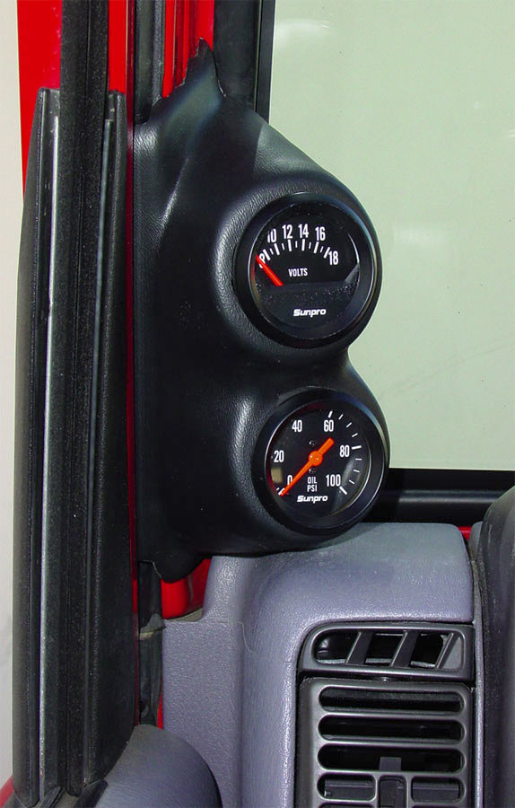 The Accessory Group 17502 Pillar Gauge Pod For 97 02 Jeep