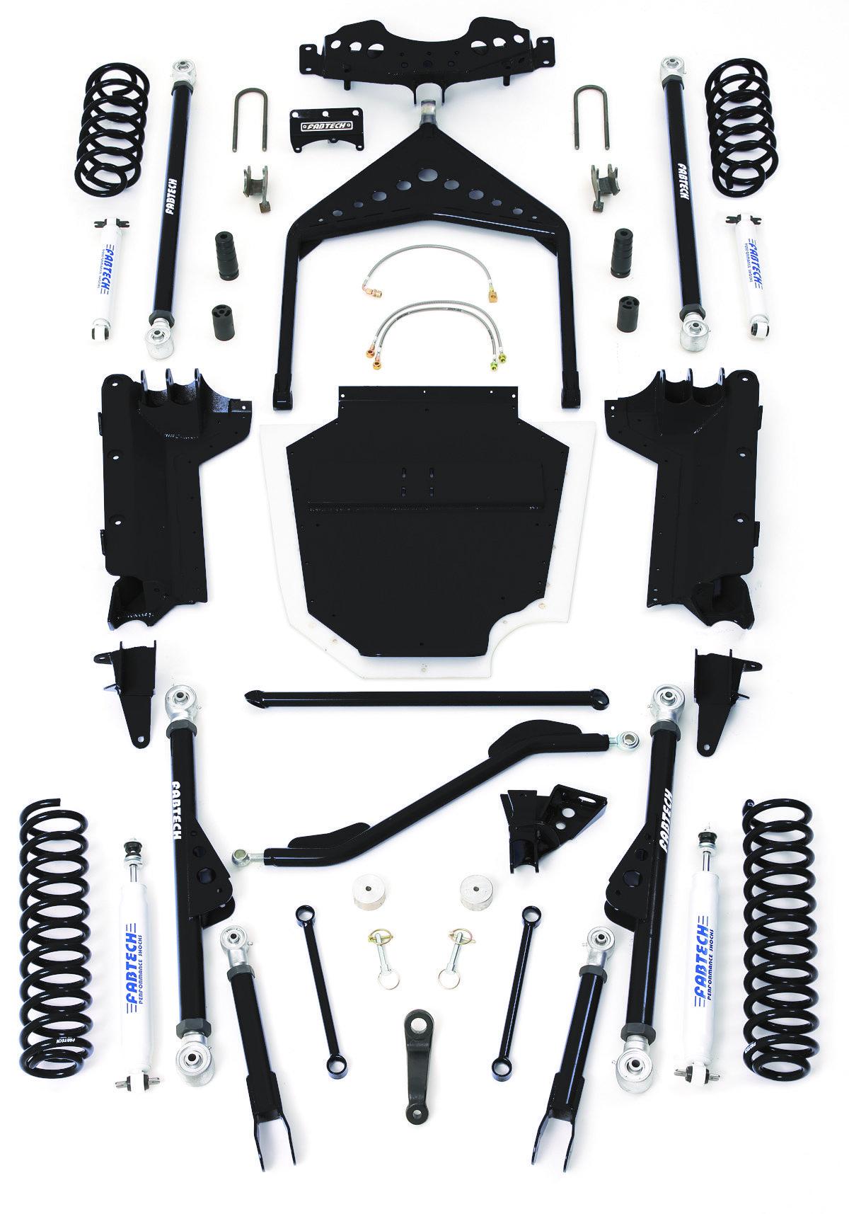 Fabtech 6 Crawler Kit For 04 06 Jeep Wrangler Tj