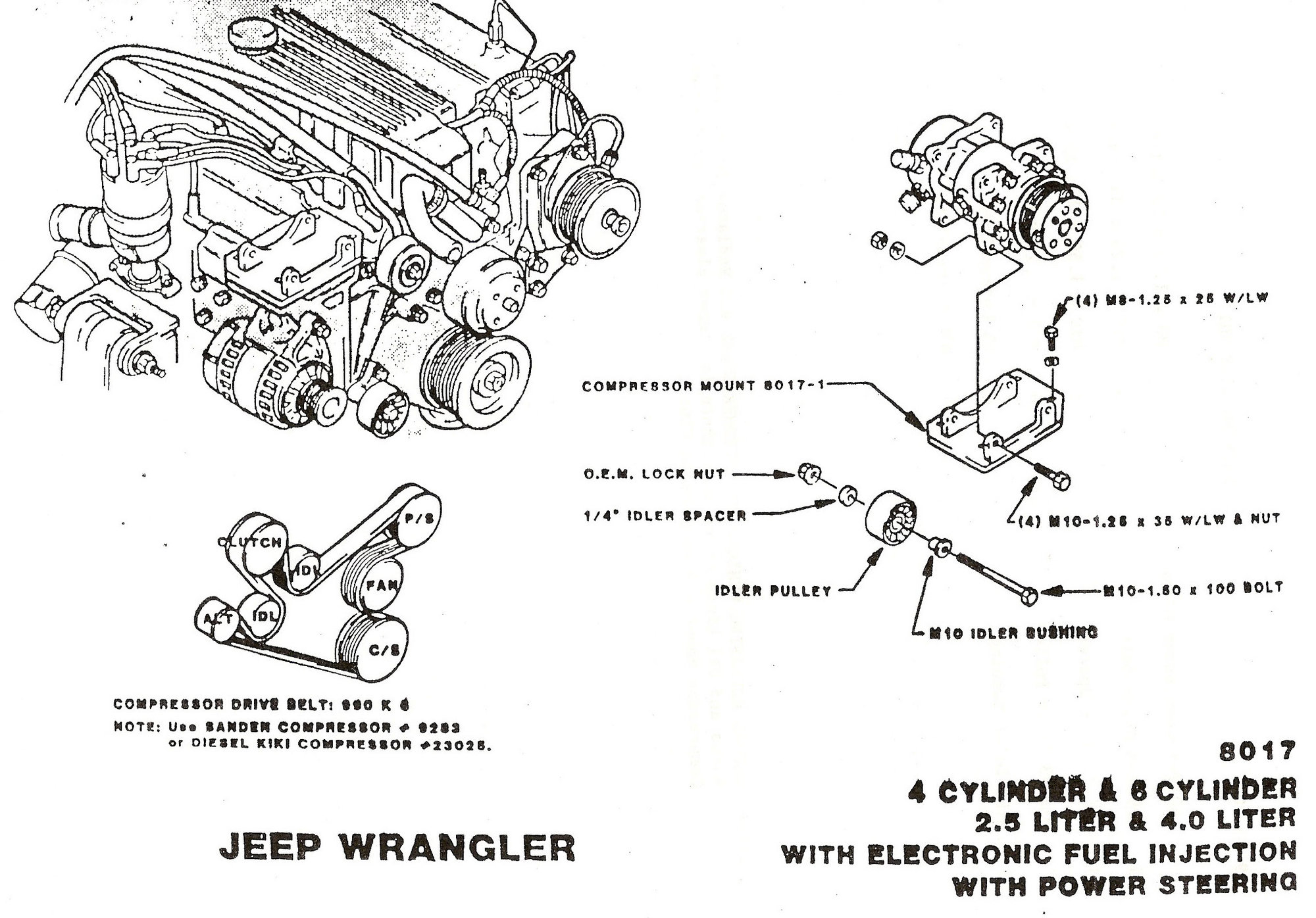 87 Jeep 4 0l Engine Belt Diagram