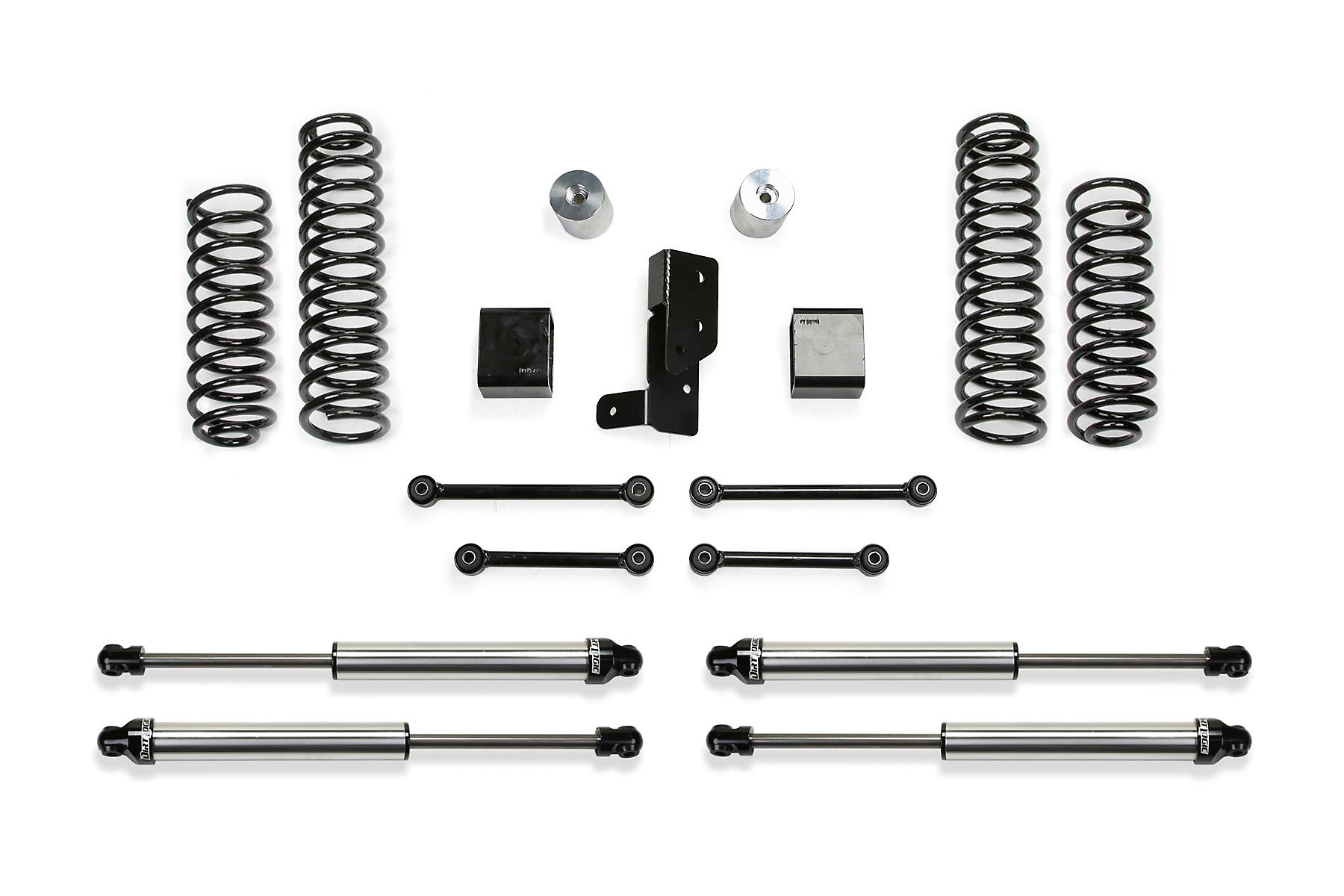 Fabtech 3 Sport Lift Kit With Dirt Logic 2 25 Shocks For 18 19 Jeep Wrangler Jl 4 Door