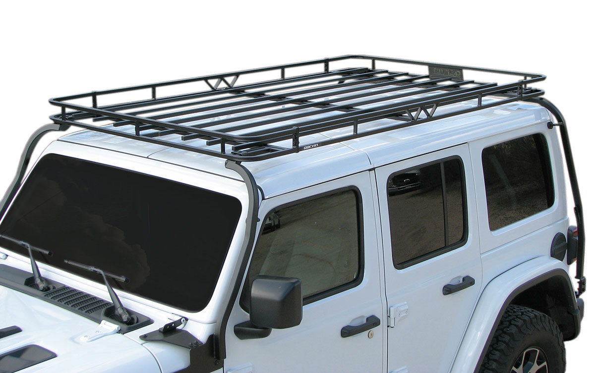 garvin 20074 expedition full rack for 18 21 jeep wrangler jl unlimited with factory hardtop