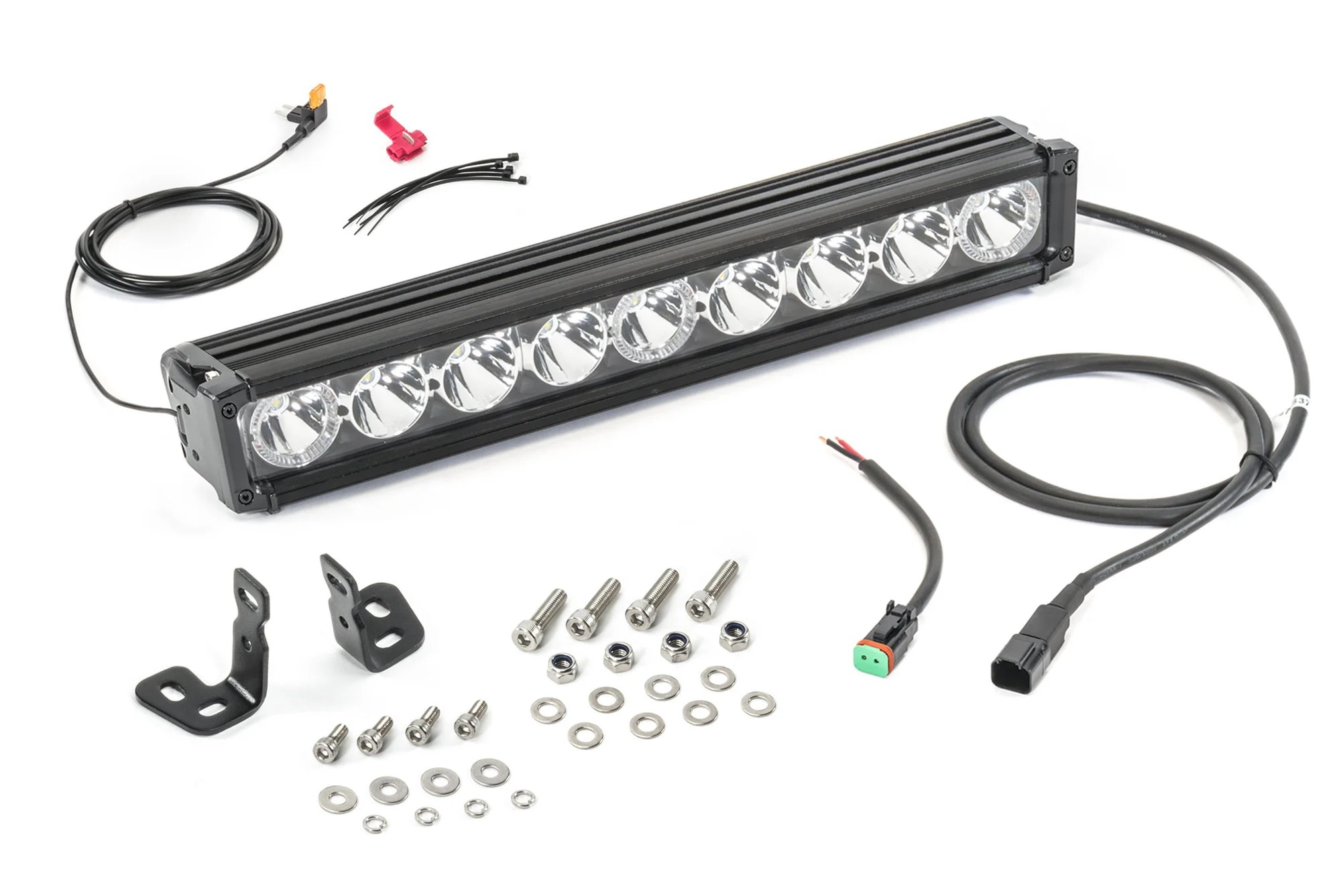 Quadratec J3 Led 17 Light Bar With Amber Clearance Lights