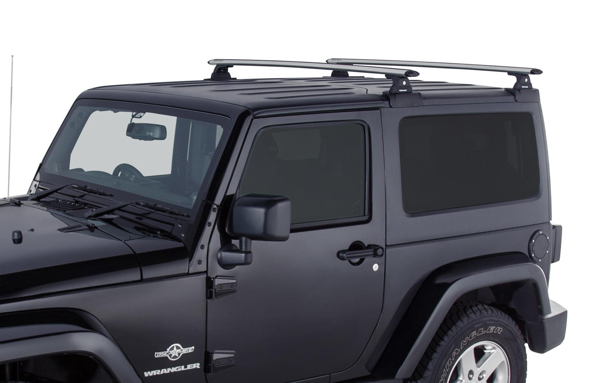 rhino rack vortex 2 bar backbone roof rack for 07 18 jeep wrangler jk hardtop