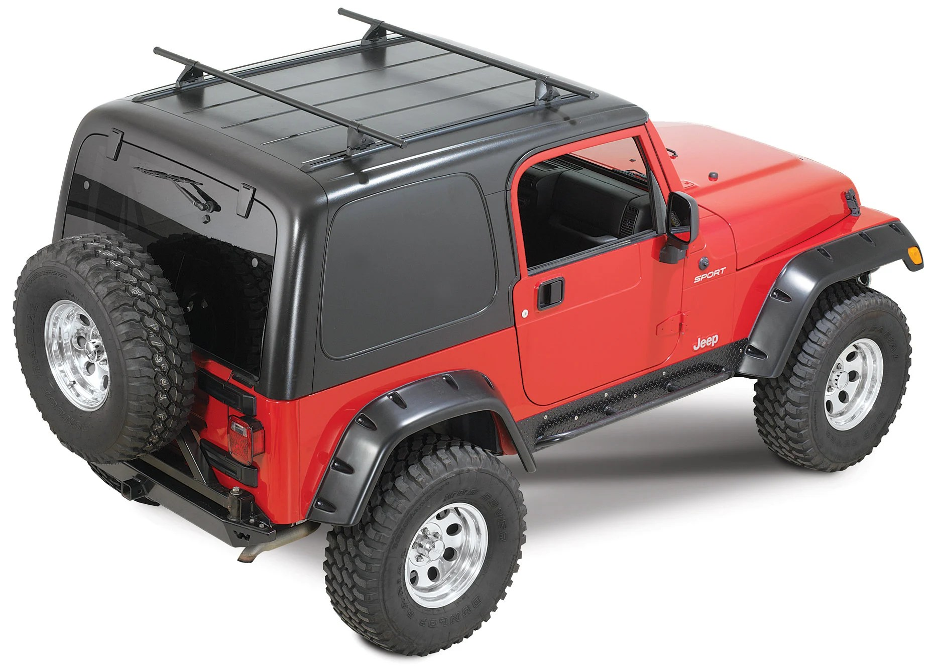 yakima overhead rack systems for 87 06 jeep wrangler yj tj unlimited