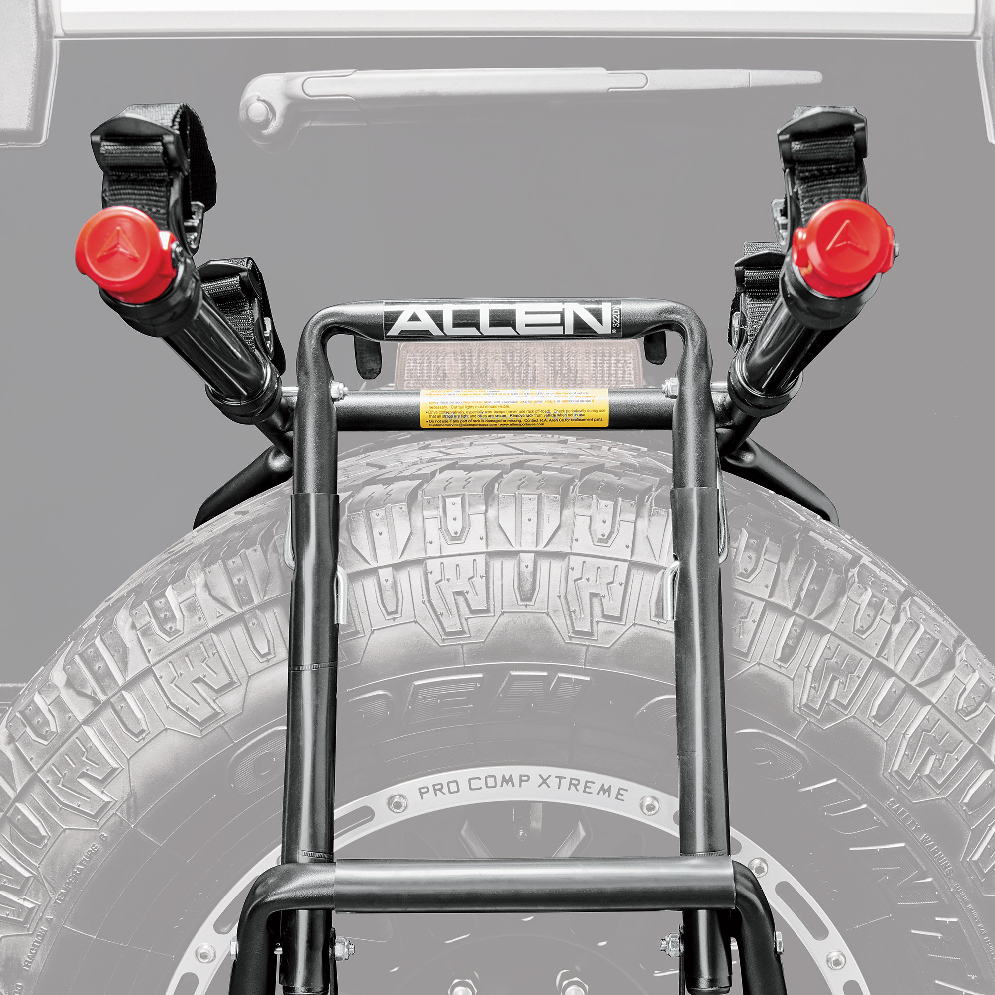 Allen Sports 322dn Premium 2 Bike Spare Tire Mounted Bike
