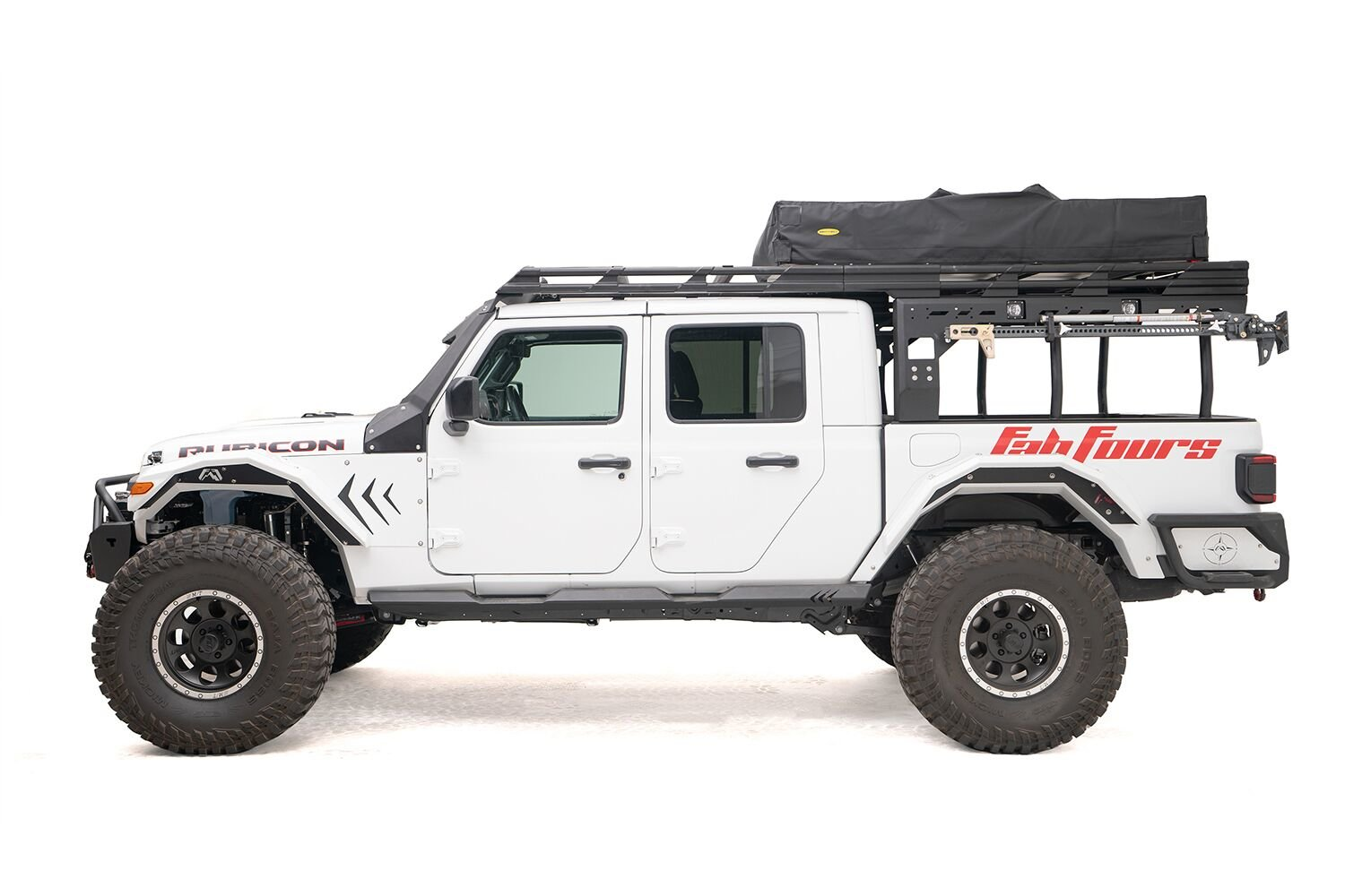 fab fours overland rack extension requires overland rack for 2020 jeep gladiator jt