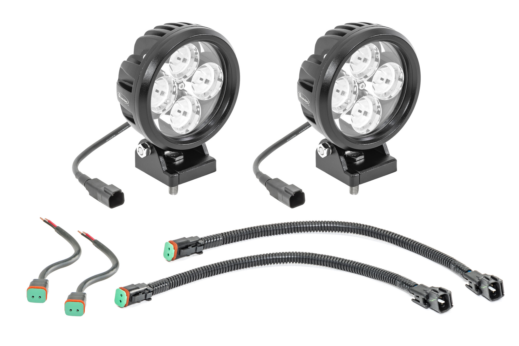 Quadratec Hi Performance 4 Round Led Light Kit For 97 06
