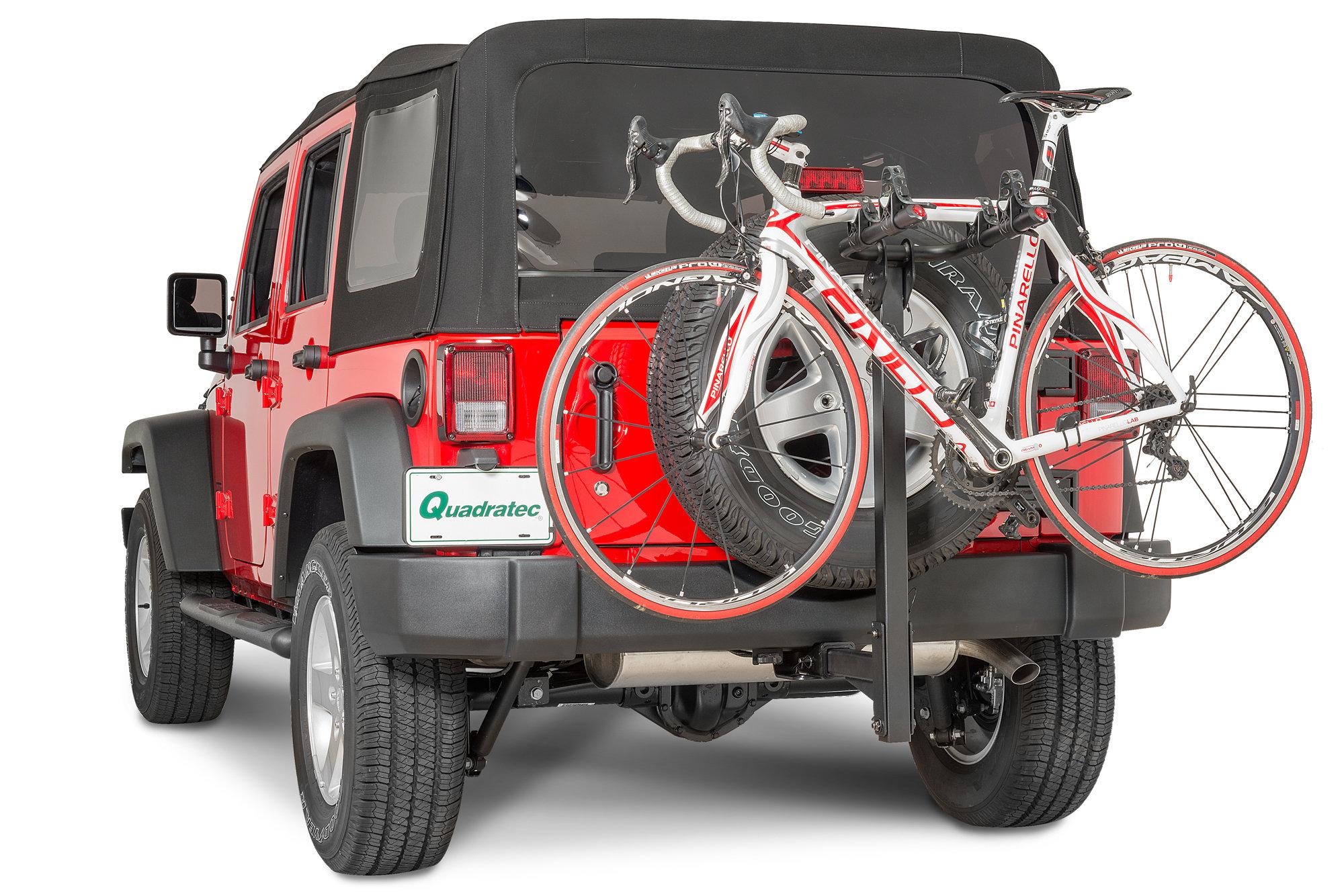 quadratec 2 bike folding bike rack for 2 receiver hitch
