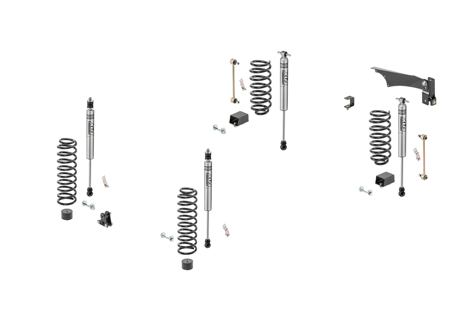 Quadratec 3 5 Coil Spring Suspension Kit With Fox Ifp Mono Tube Shocks For 07 18 Jeep Wrangler
