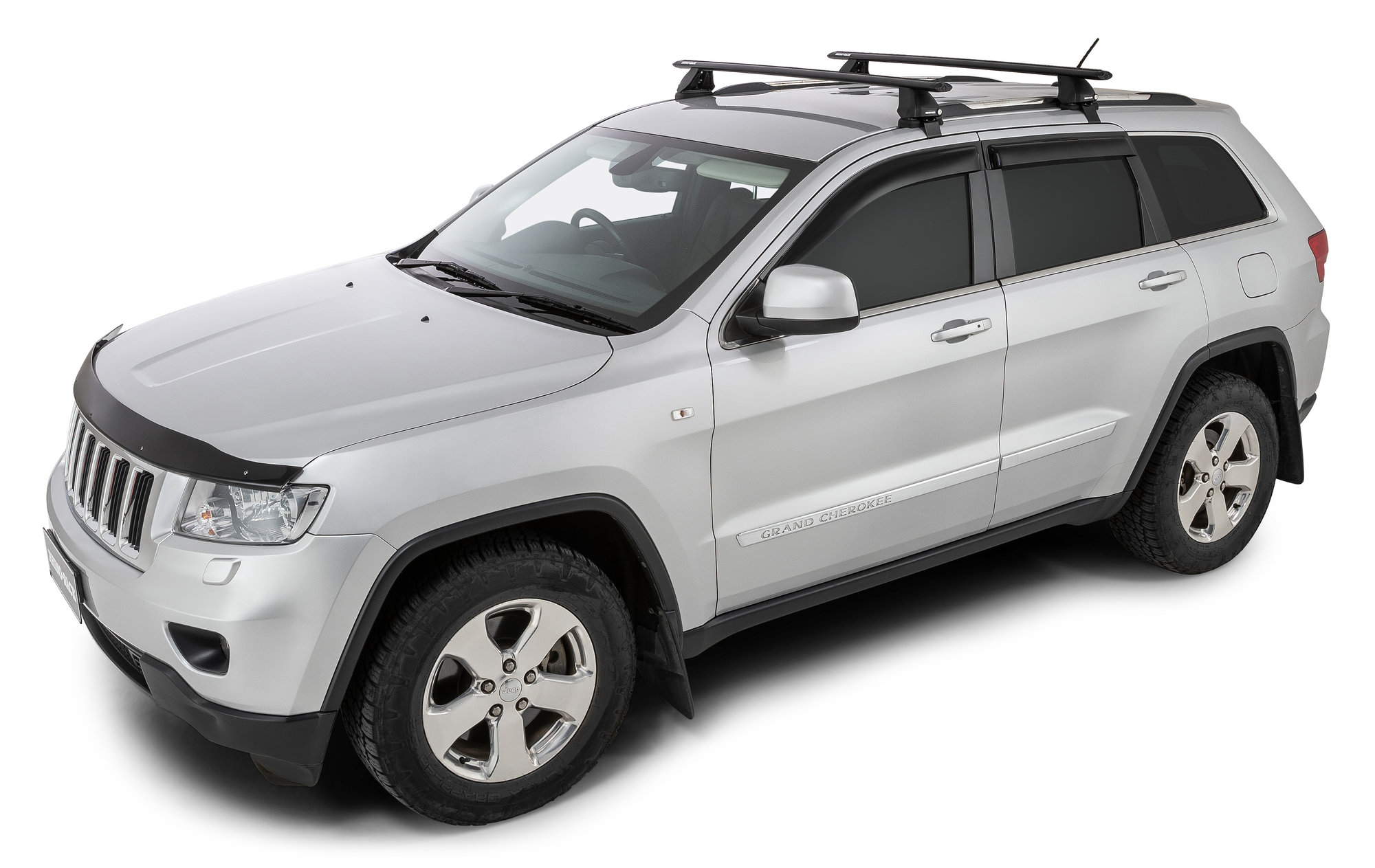 rhino rack vortex 2500 roof rack system for 11 18 jeep grand cherokee wk2 with factory plastic rails